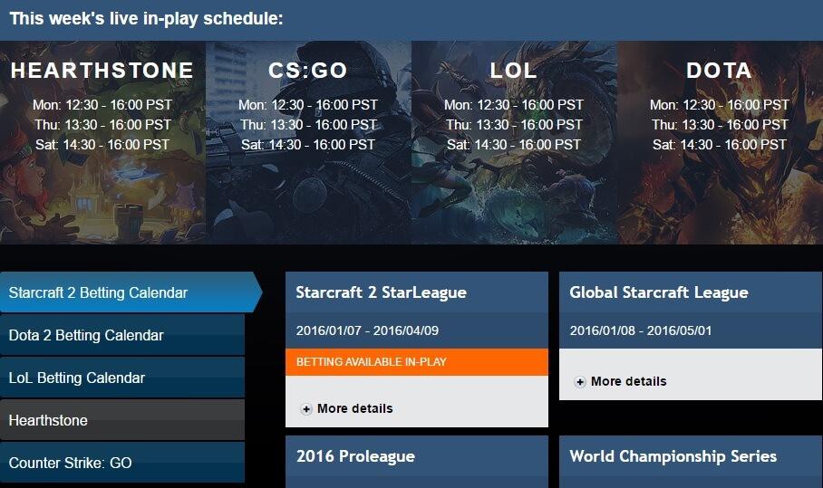 Раздел за електронни спортове от Pinnacle